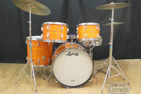 1968 Ludwig Big Beat Mod Orange